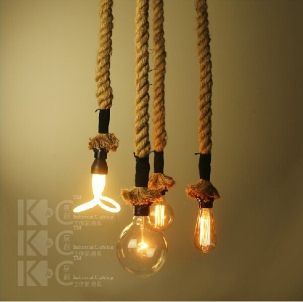 Free-shipping-Loft-industrial-lamp-hemp-rope-pendant-lights-Europe-Style-E27-Hand-Knitted-lamps-For