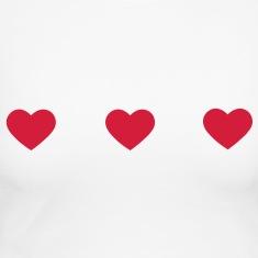 tres-corazones-Camisetas-de-manga-larga